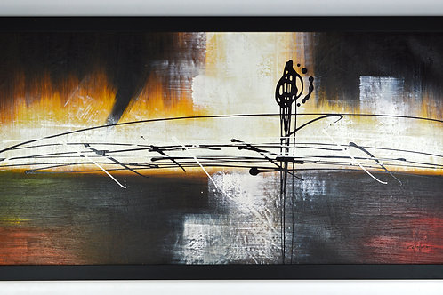 'Musical Notes' by H.Dier - Original Oil Painting Framed