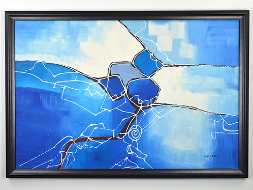 'Connections' by R.Pevel - Original Oil Painting Framed