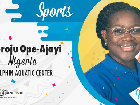 Aderoju Ope-Ajayi of Dolphin Swim School named among 13 Winners of African Entrepreneurship Award