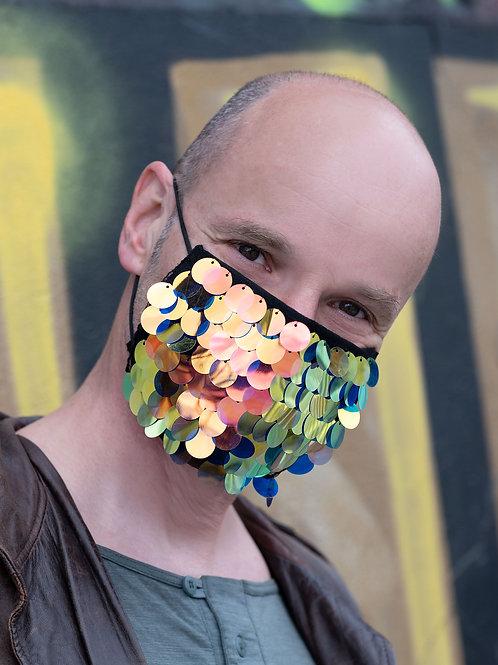 Masken-Cover: JUST BUBBLES DARK