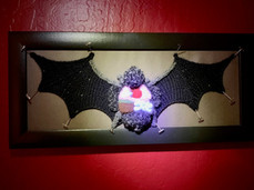 Knitted Dissected Bat Specimen by Emily Stoneking