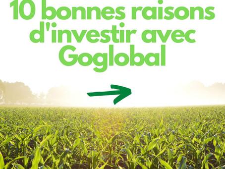 Dix bonnes raison d'investir avec Goglobal (participer dans l'agriculture) !