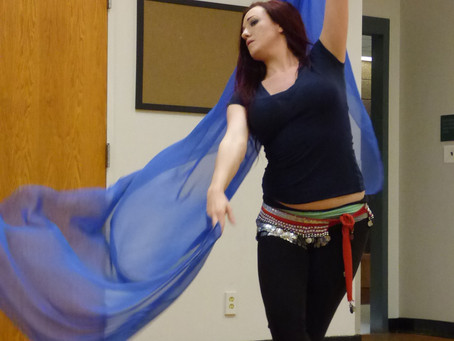 Belly dancers enjoy moving experience