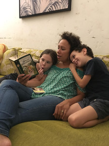 Snuggling up for a read aloud
