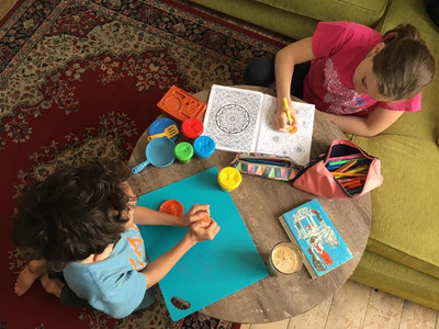 Colouring In and Play Dough
