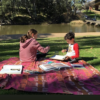 That Homeschool Life: Painting by the River
