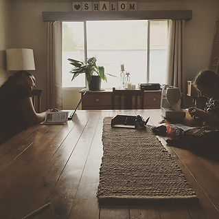 That Homeschool Life: sewing, reading, afternoon light