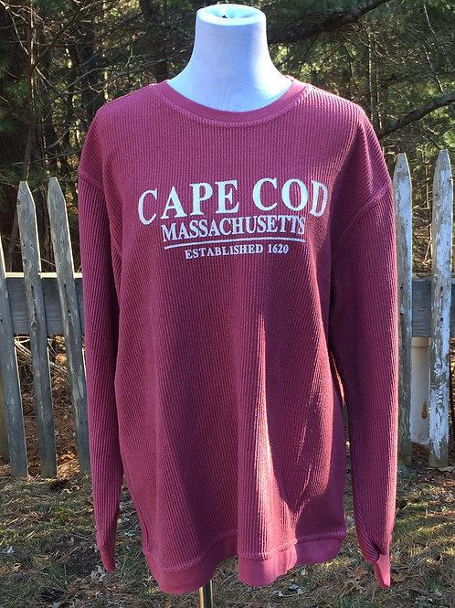 Nantucket Red Corduroy Crew Neck Sweatshirt
