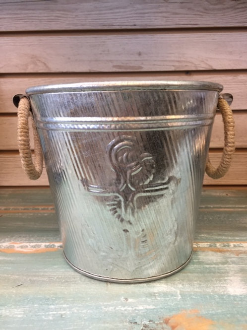 Aluminum Anchor Ice Bucket with Rope Handles