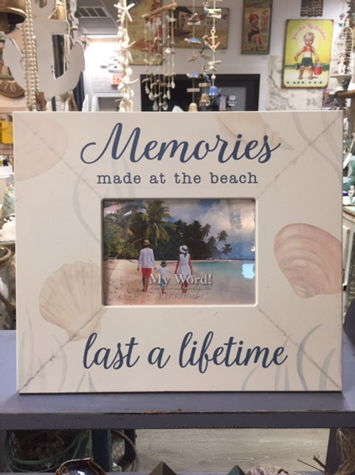 Memories Made at the Beach Last a Lifetime Wooden Picture Frame