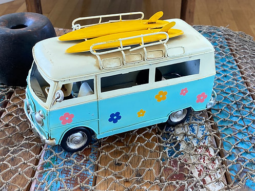 Vintage Flower Power Surf Van.