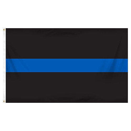 Thin Blue line  - 100% Nylon Outdoor Flag
