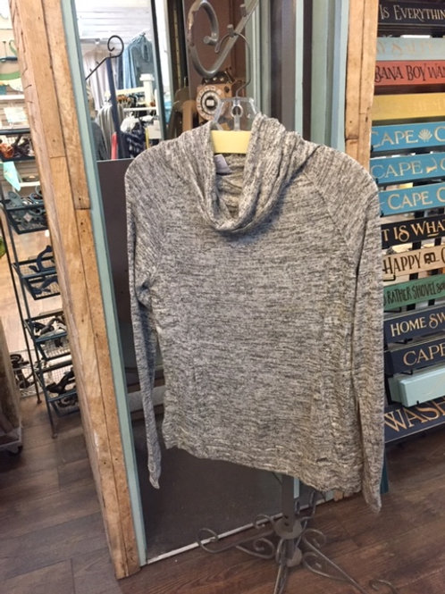 Carefree Threads Heather Grey Cowell Neck Super Soft Lounge Top