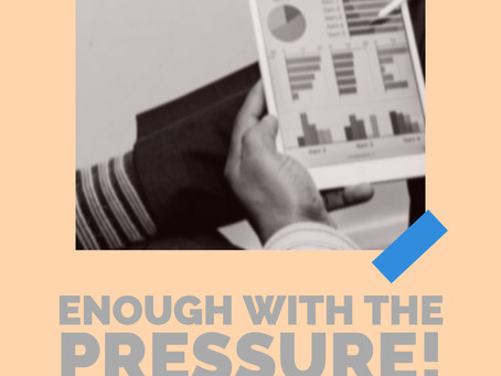 Enough With The Pressure, Run Your Business!