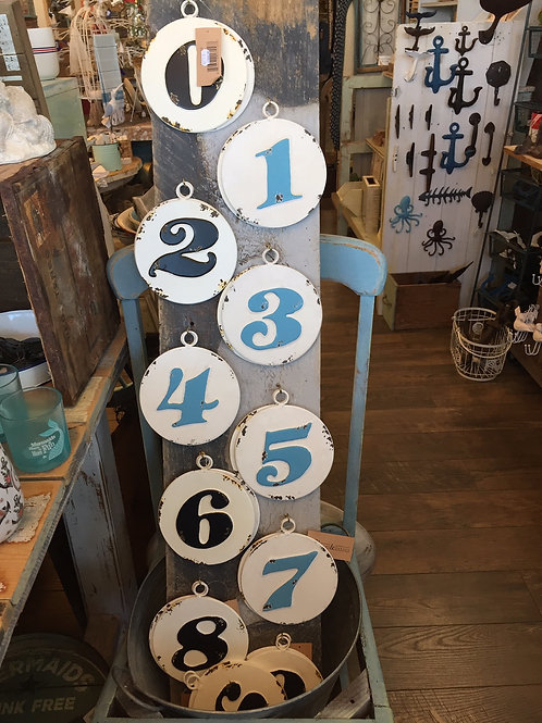 Distressed Metal House Number Plaques