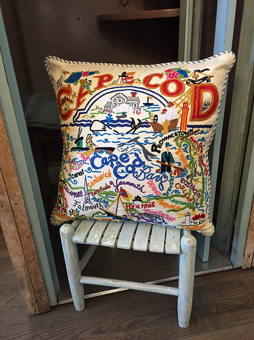 Cats Studio Embroidered Cape Cod Pillow
