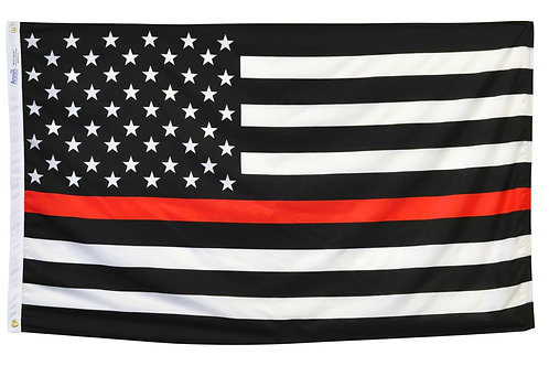 Thin Red Line US Flag (3x5 Only) - 100% Nylon Outdoor Flag