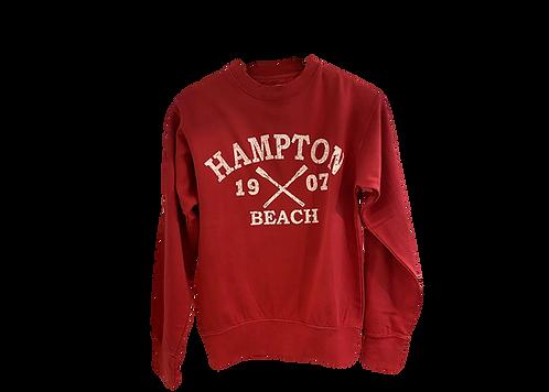 Red Crew Neck Adult Sweatshirt