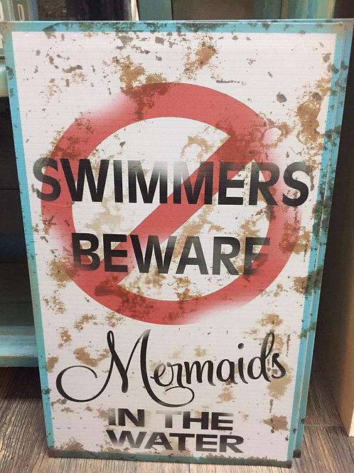 """Metal """"Swimmers Beware Mermaids"""""""