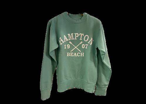 Seafoam Blue Crew Neck Adult Sweatshirt
