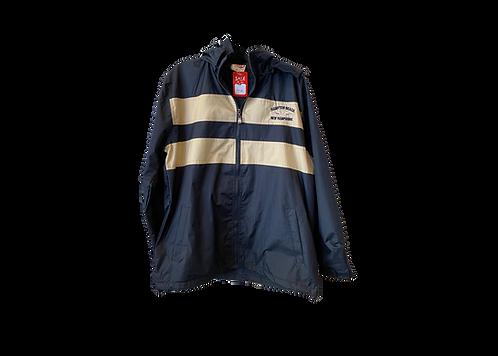 Adult Windbreaker Navy/Tan Jacket