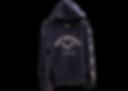 Navy Blue hooded sweatshirt with crossed