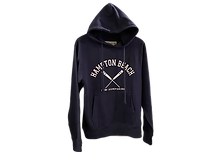 Navy Blue hooded sweatshirt with crossed