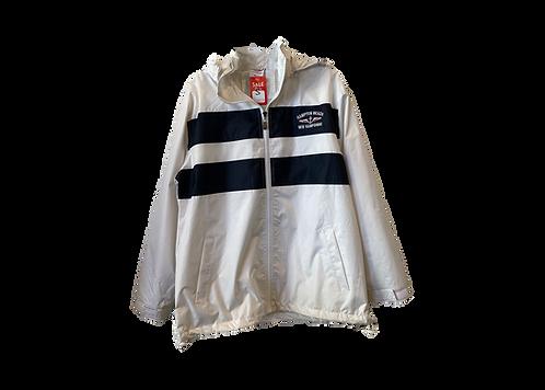 Adult Windbreaker White/Navy Jacket