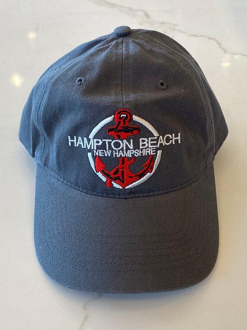 Hampton Beach Red Anchor Hat