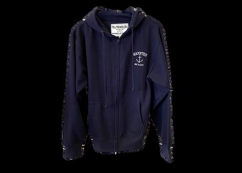 Navy Adult Full Zip Hoodie