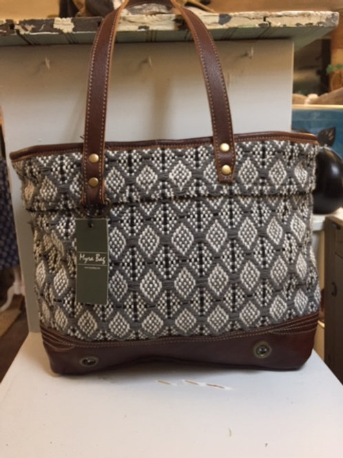 Grey & White Bag by Myra