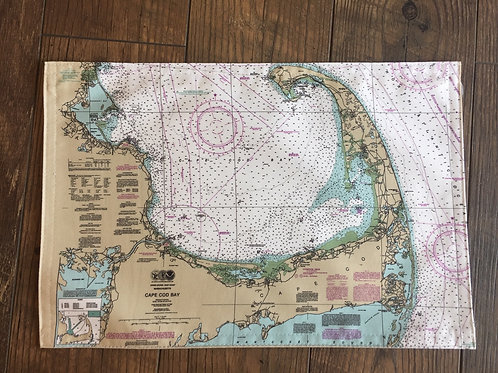Fabric Cape Cod Chart Map Placemat