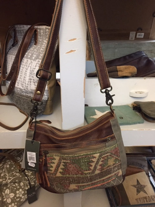Leather Up Cycled Bag by Myra