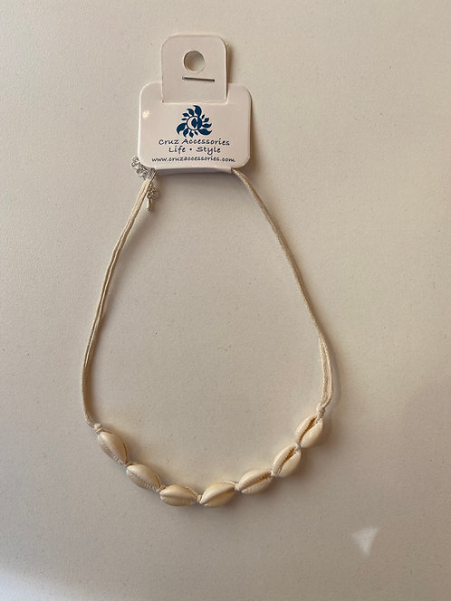 Cowry Choker with 12 Shells Natural Cord