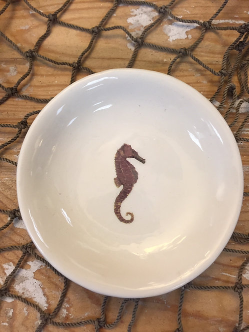 "Ceramic 3"" Little Dish With Seahorse"