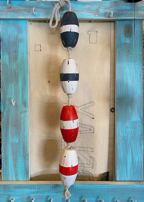 Decorative Wooden Buoy Rope