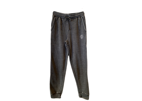 Men's Charcoal Burnout Pant with Embroidery