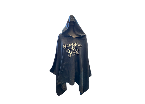Hampton Beach Sweatshirt Poncho