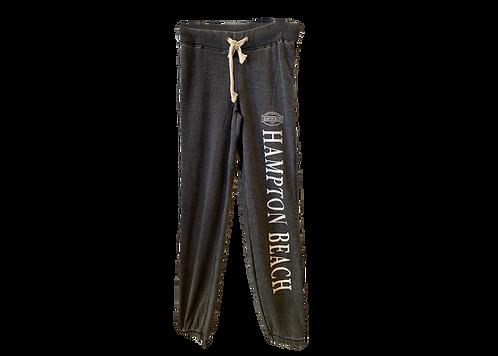 Ladies Burnout Charcoal Pant with Leg Print
