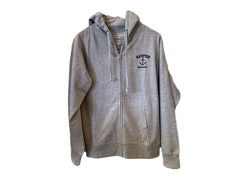 Ash Grey Adult Full Zip Hoodie