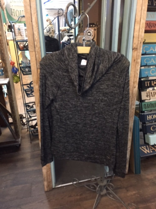 Carefree Threads Slate Blue Cowell Neck Super Soft Lounge Top