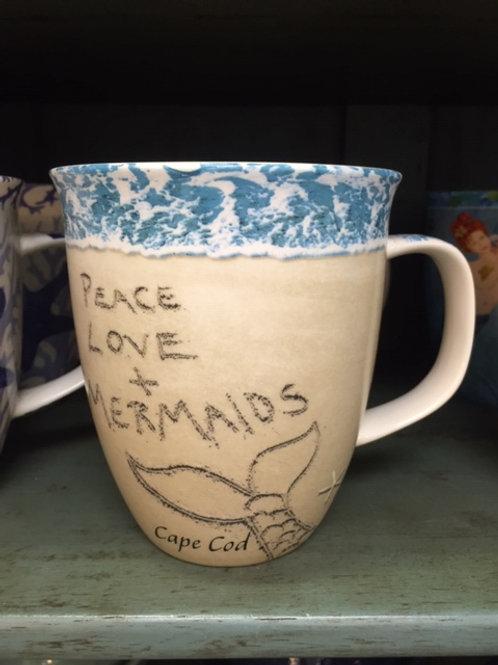 Peace Love & Mermaids Harbor Mug