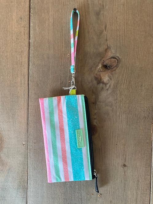 Kate Wristlet Spring Stripes