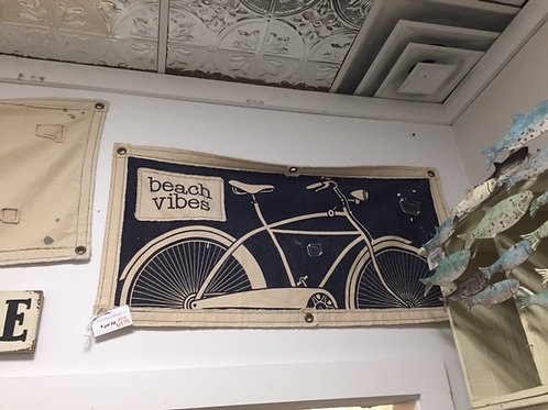 Beach Vibes Bicycle Canvas Wall Hanging