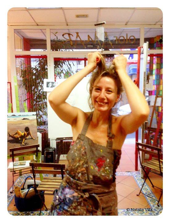 Natalia Moreno- _No puedo máaaaaaaaassssss_- Si puedes con tú autoretrato campeonaaaa!!!