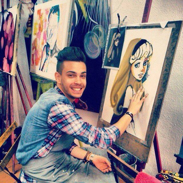 Damián, pintando a su _María_