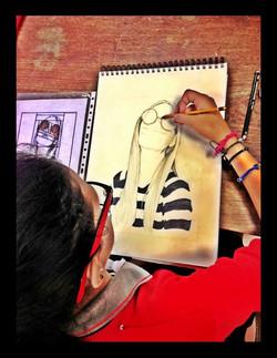 Ilustrando con grafito