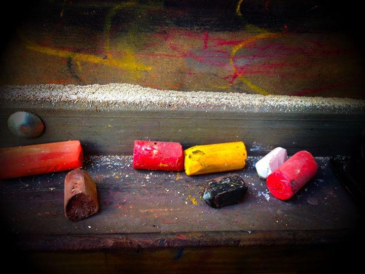 Pasteles  en un caballete.jpg olorAMAR Taller de Arte cositas