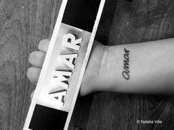 Tatuaje de Laura, una alumna. Y uno de nuestros marcadores de colección. Que el amar se contagie!!