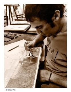 Alfredo- Mejorando su afición por el cómic- Grafito